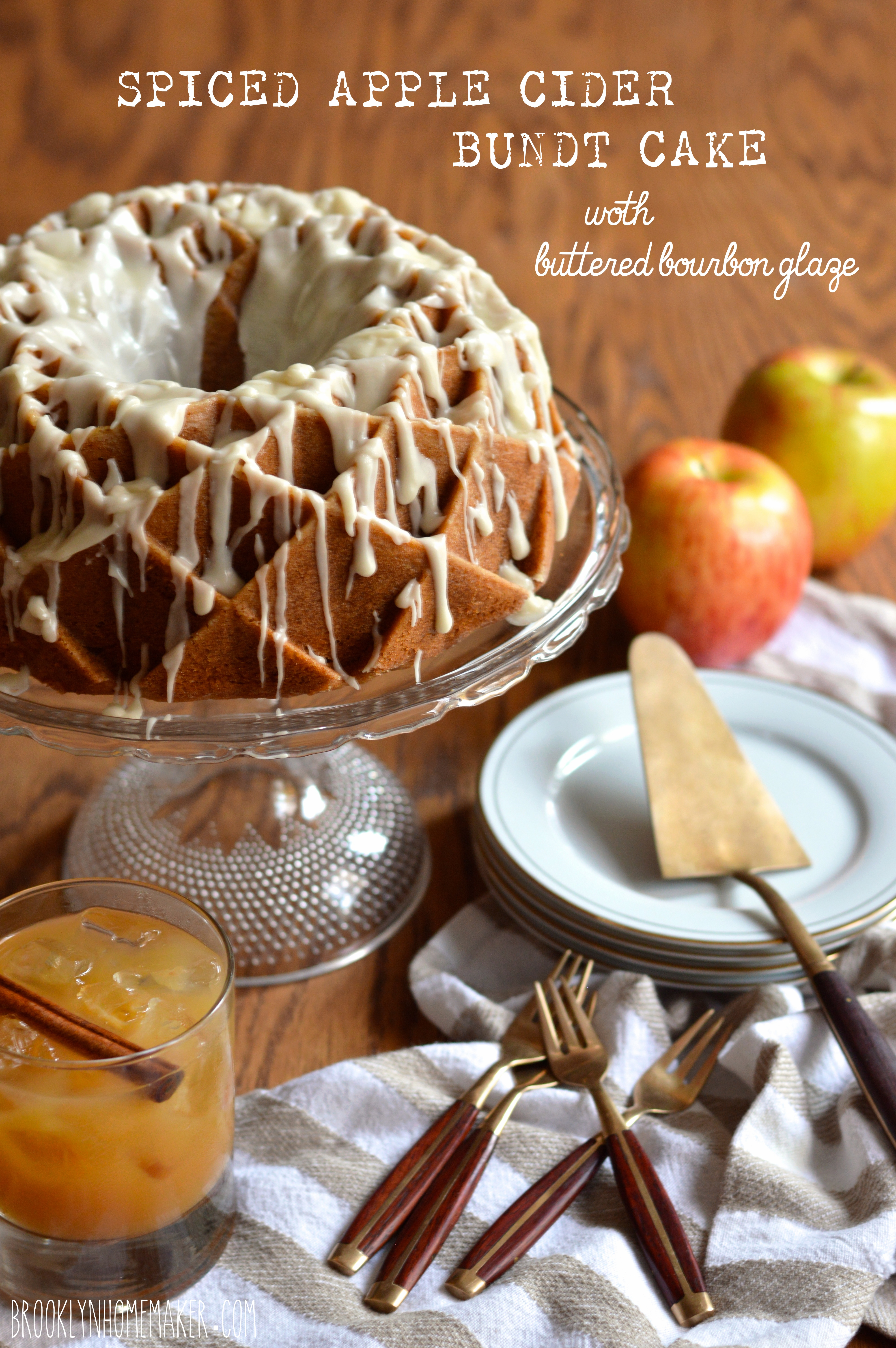 Ed Apple Cider Bundt Cake With Ered Bourbon Glaze Brooklyn Homemaker