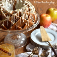 spiced apple cider bundt cake with buttered bourbon glaze  #bundtbakers