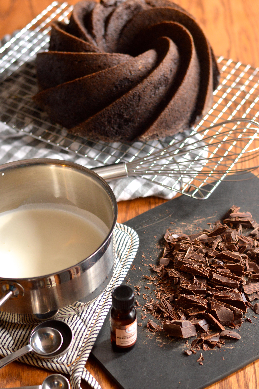 best chocolate bundt cake with peppermint dark chocolate ganache ...