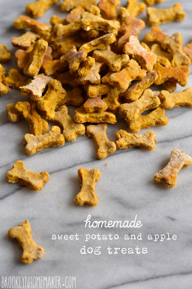 sweet potato and apple dog treats | Brooklyn Homemaker