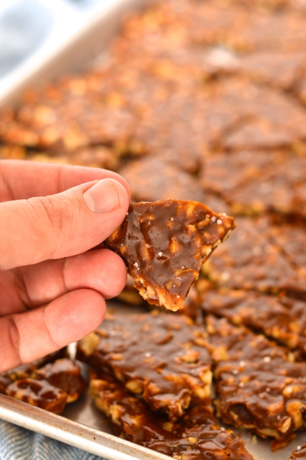 salted maple and molasses walnut brittle | Brooklyn Homemaker