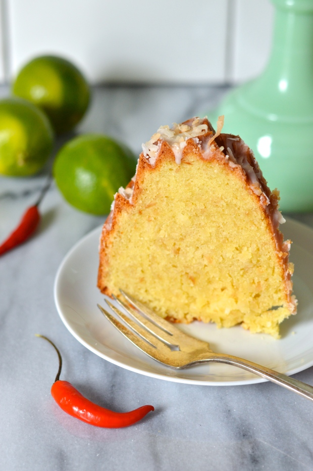 toasted coconut lime bundt cake with chili lime glaze | Brooklyn Homemaker