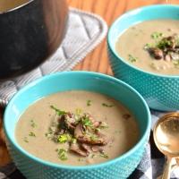 a healthier cream of mushroom soup