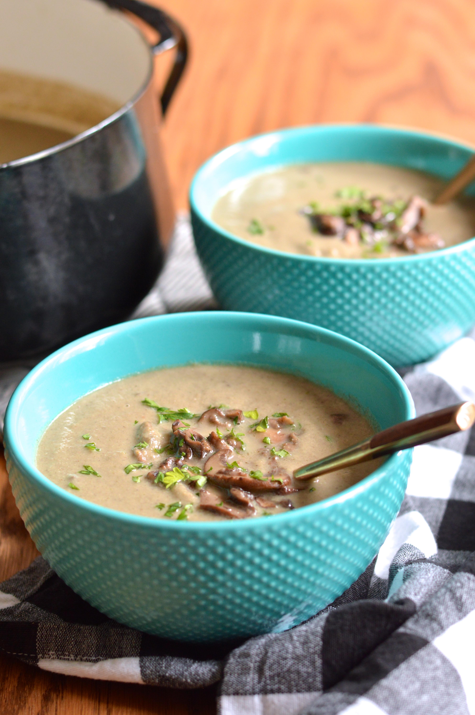 creamy mushroom soup creamy mushroom soup creamy roasted cauliflower ...
