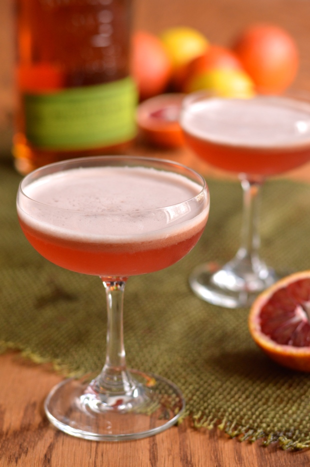 blood orange whiskey sour | Brooklyn Homemaker