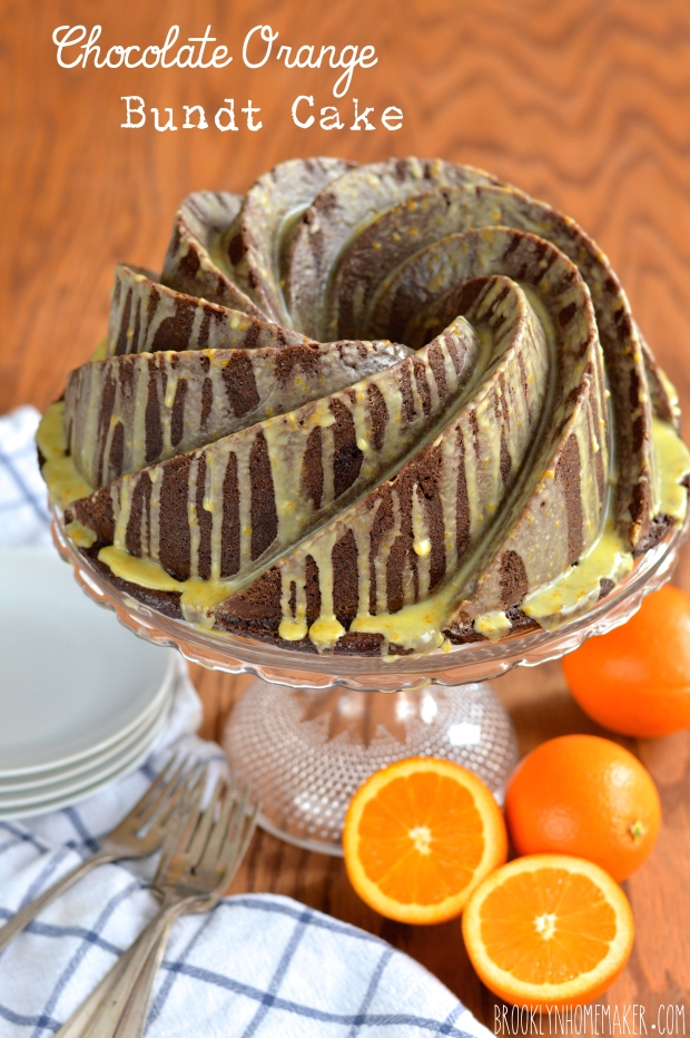 chocolate orange bundt cake | Brooklyn Homemaker