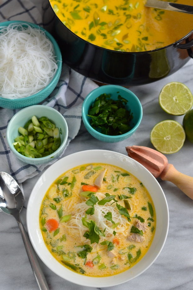 thai style chicken noodle soup | Brooklyn Homemaker