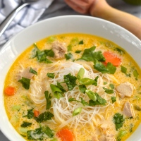 thai style chicken noodle soup