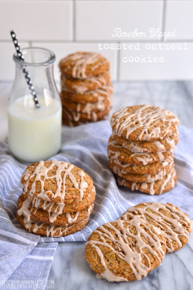 bourbon glazed toasted oatmeal cookies | Brooklyn Homemaker