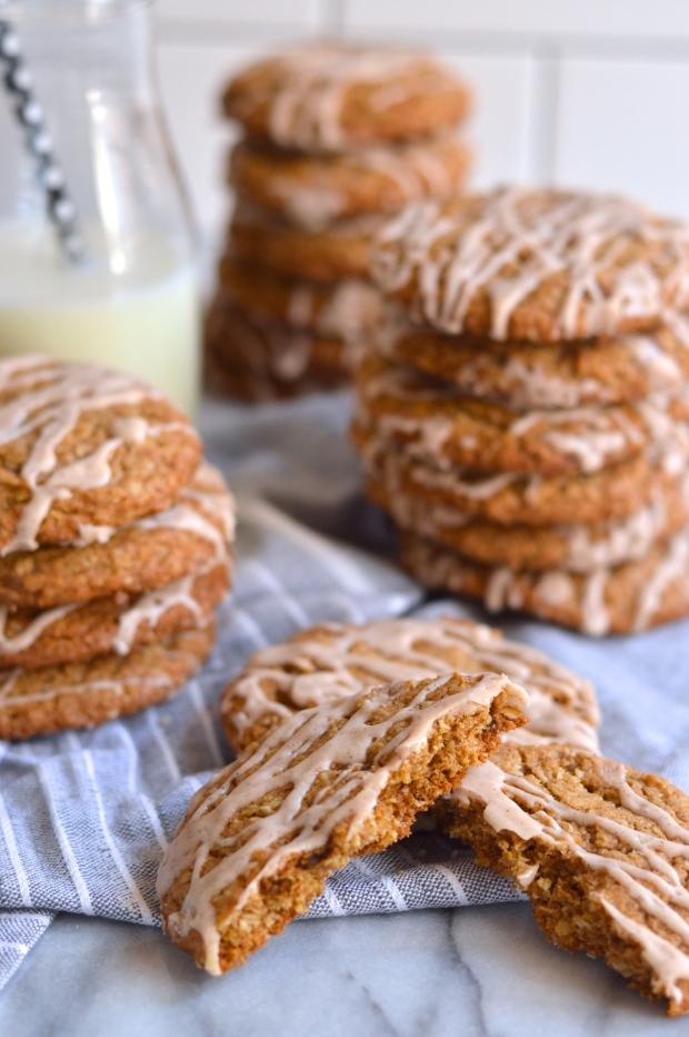 bourbon glazed toasted oatmeal cookies | Brooklyn Homemaker