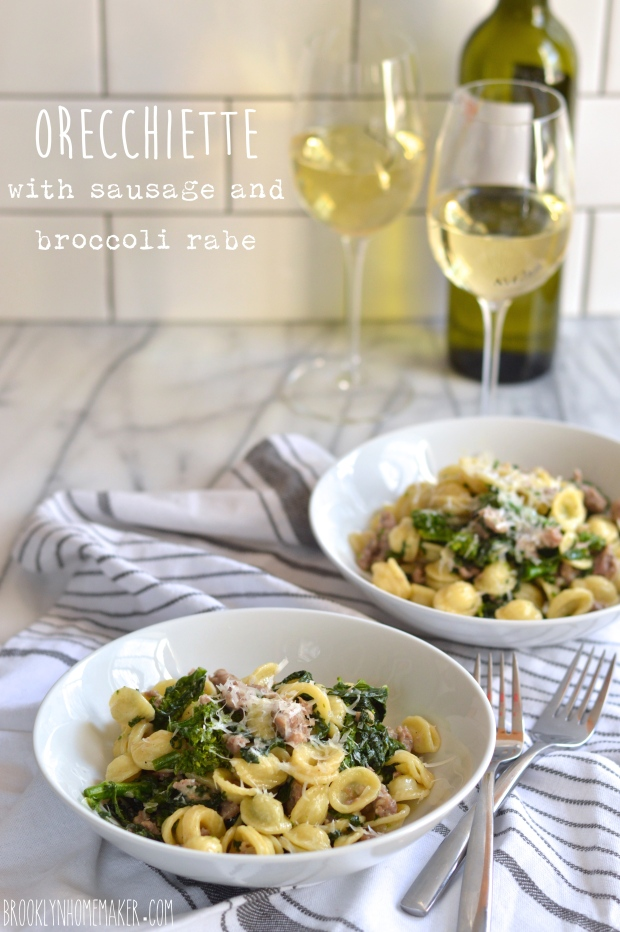 orecchiette with sausage and broccoli rabe | Brooklyn Homemaker