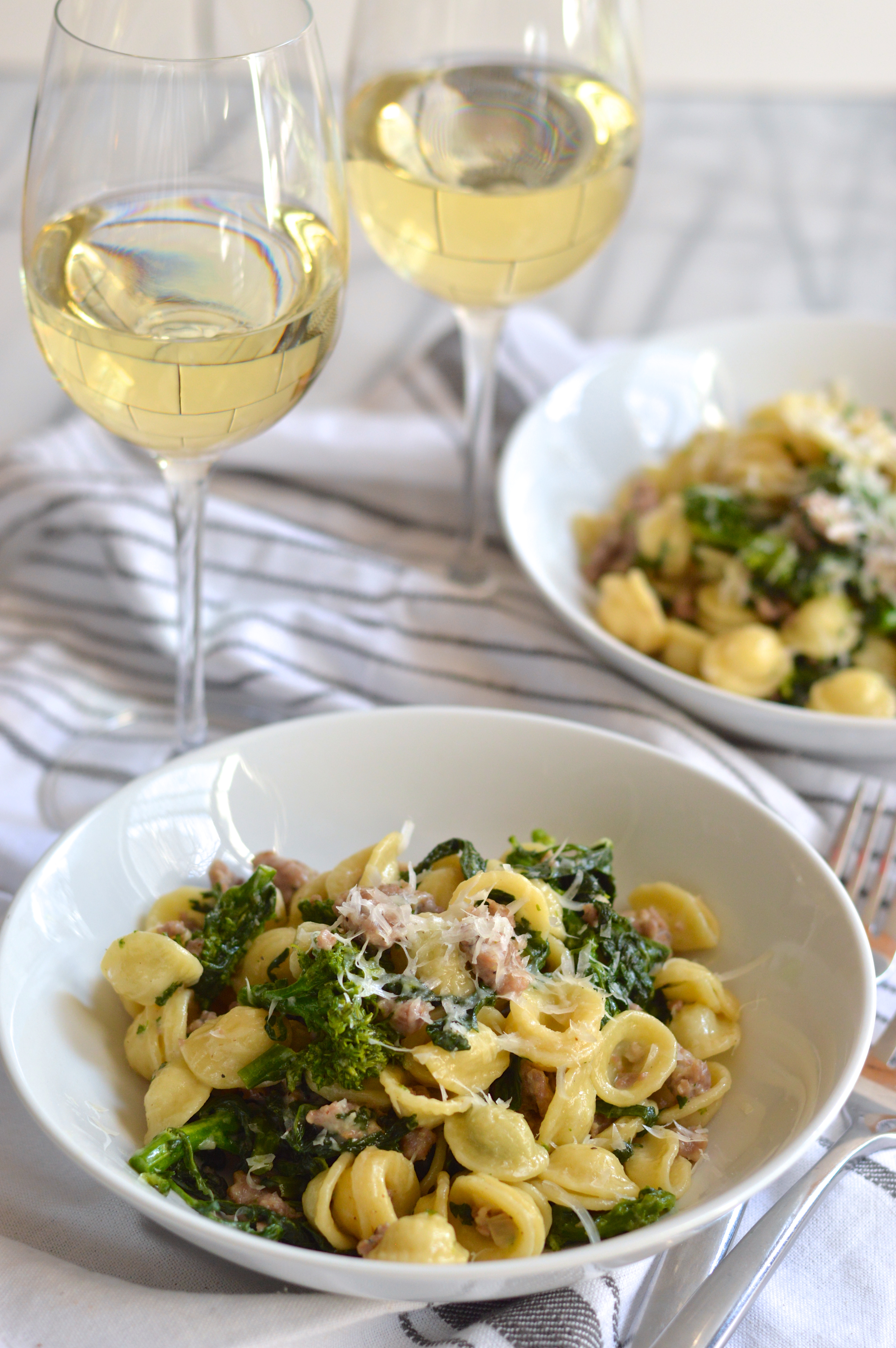 Orecchiette With Sausage And Broccoli Rabe Brooklyn Homemaker
