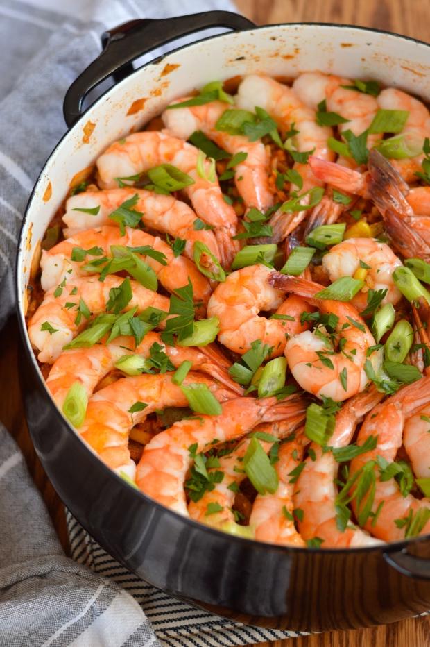 creole red jambalaya with chicken, shrimp, & andouille   Brooklyn Homemaker