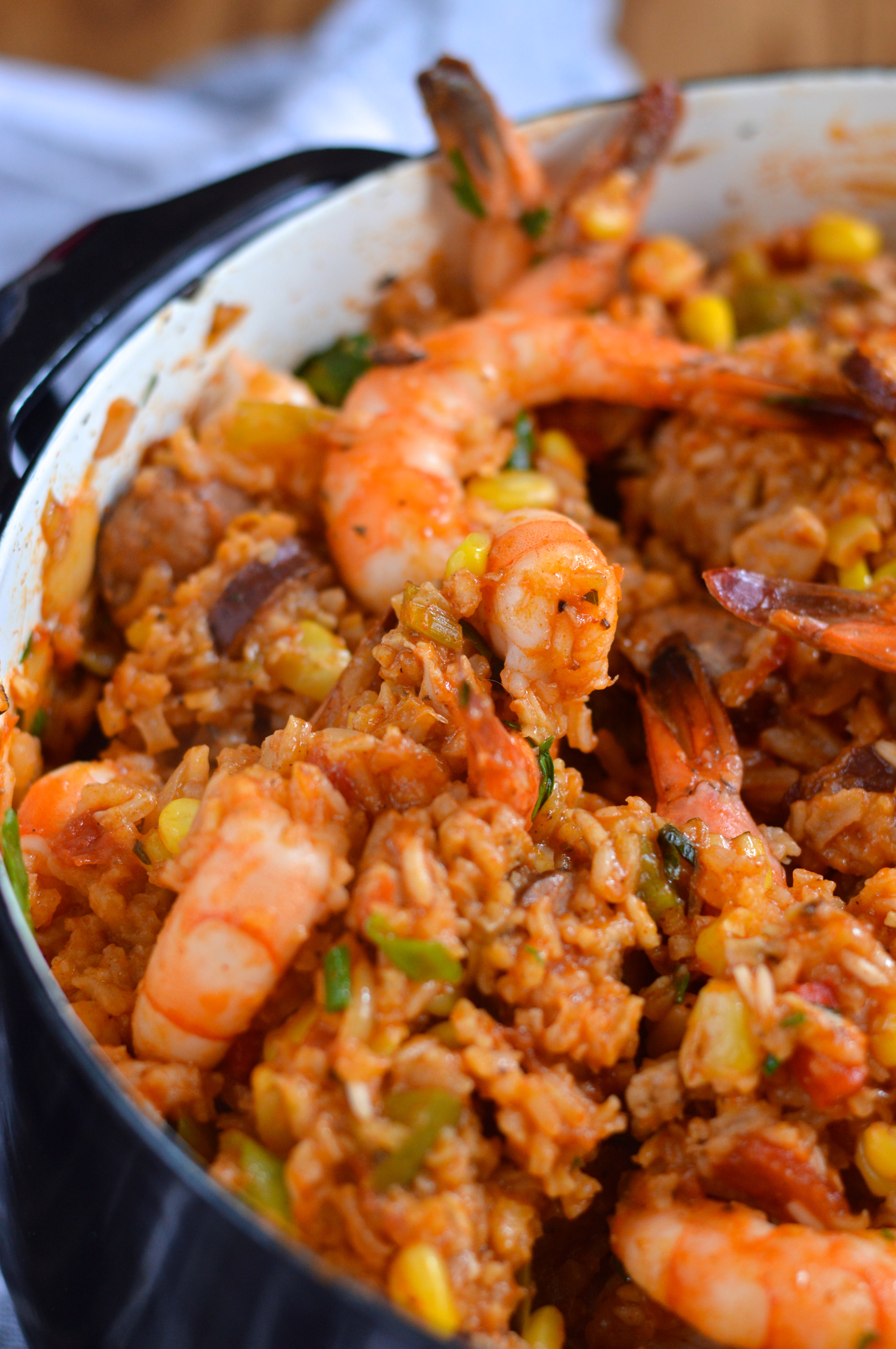 Creole Jambalaya with Chicken, Shrimp, and Andouille
