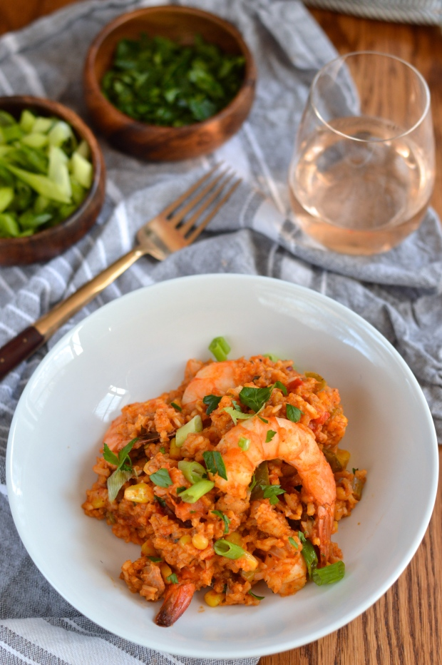 creole red jambalaya with chicken, shrimp, & andouille | Brooklyn Homemaker