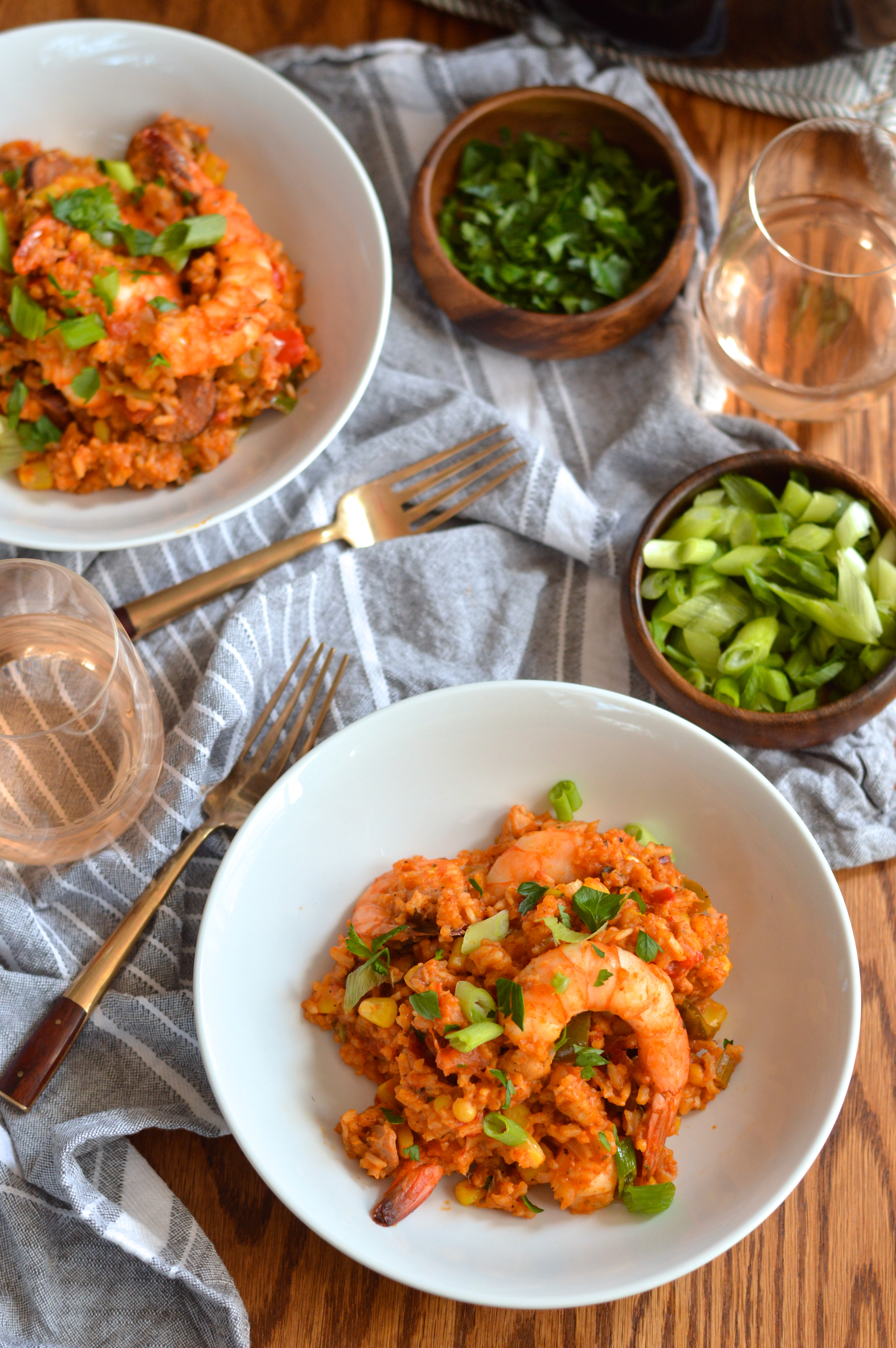 creole red jambalaya with chicken, shrimp, & andouille | Brooklyn ...