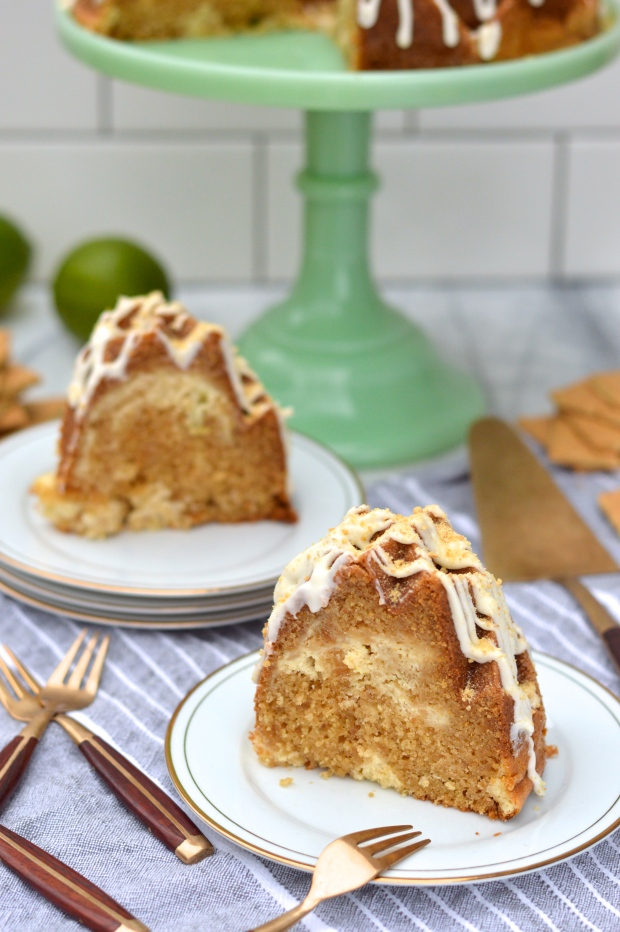 graham cracker bundt cake with key lime cheesecake swirl | Brooklyn Homemaker