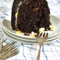 rocky road bundt cake #bundtbakers