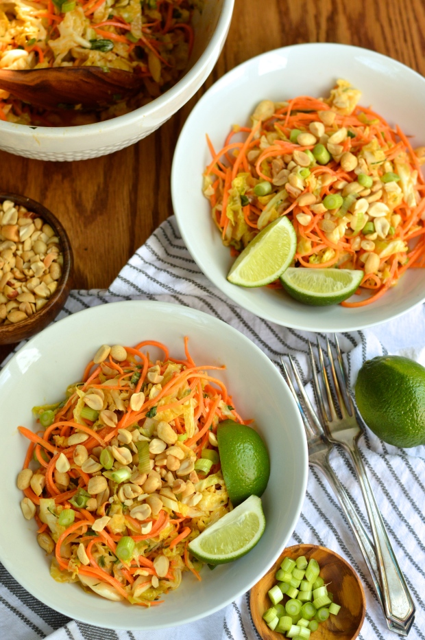 carrot and cabbage salad with spicy peanut dressing | Brooklyn ...