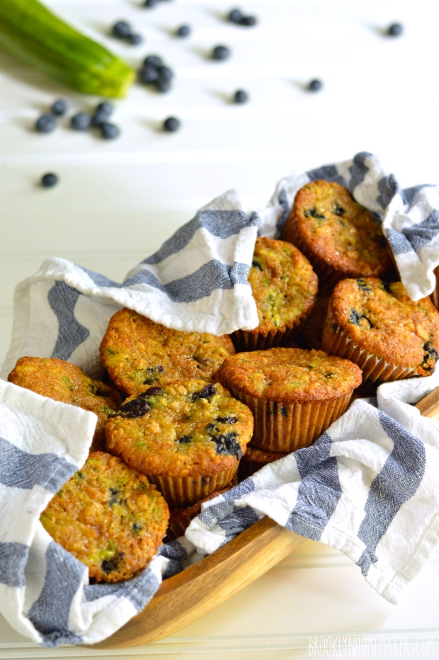 blueberry zucchini oat muffins | Brooklyn Homemaker