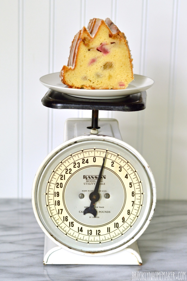 rhubarb pound cake with lemon glaze   Brooklyn Homemaker