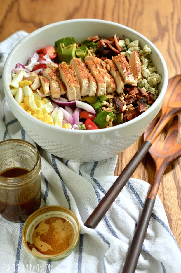 kale cobb salad with balsamic vinaigrette | Brooklyn Homemaker