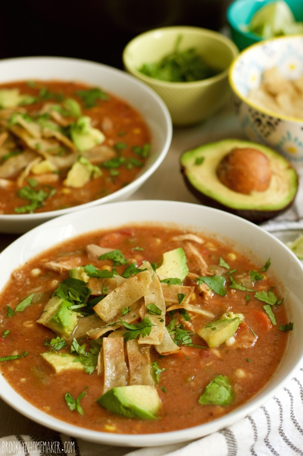 chicken tortilla soup from scratch | Brooklyn Homemaker