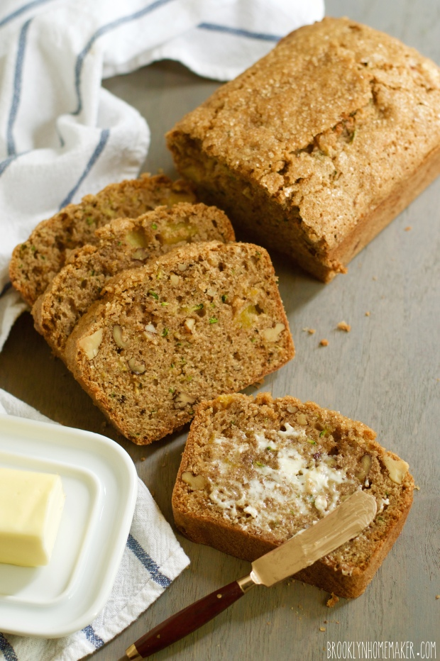 zucchini peach bread | Brooklyn Homemaker