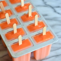 orange carrot ice pops