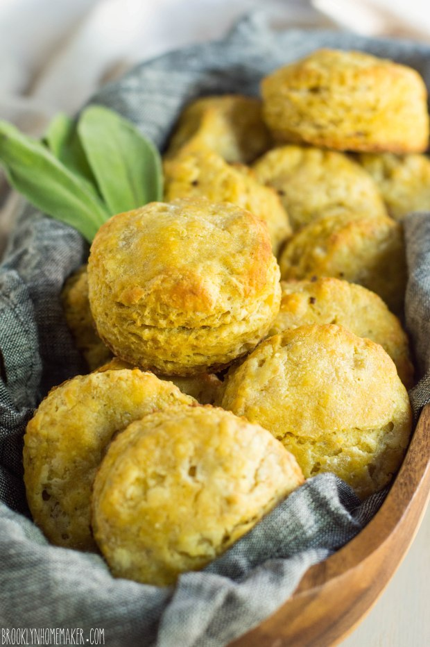 flaky butternut squash & sage biscuits | Brooklyn Homemaker
