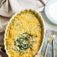 creamed kale gratin