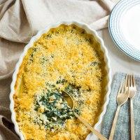 creamed kale gratin