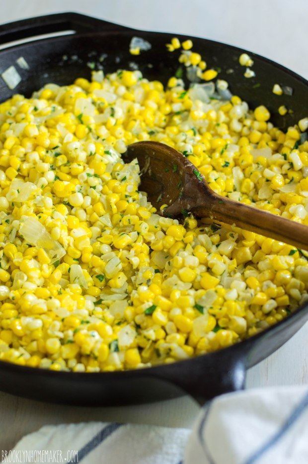 herb and cheddar corn pudding | Brooklyn Homemaker