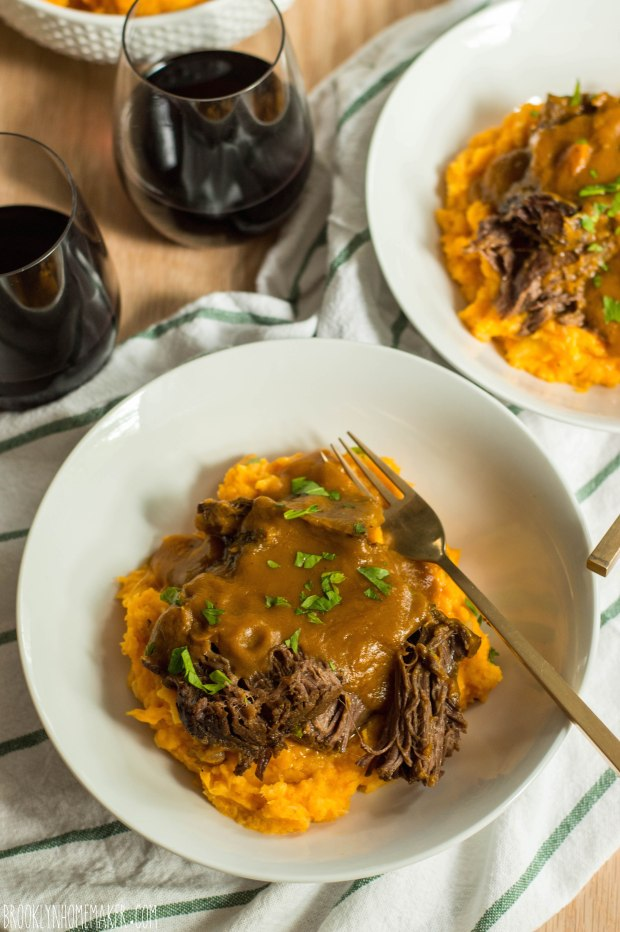 classic pot roast with sweet potato parsnip mash | Brooklyn Homemaker