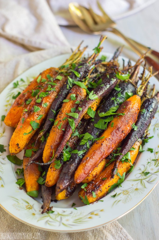 maple dijon roasted carrots | Brooklyn Homemaker