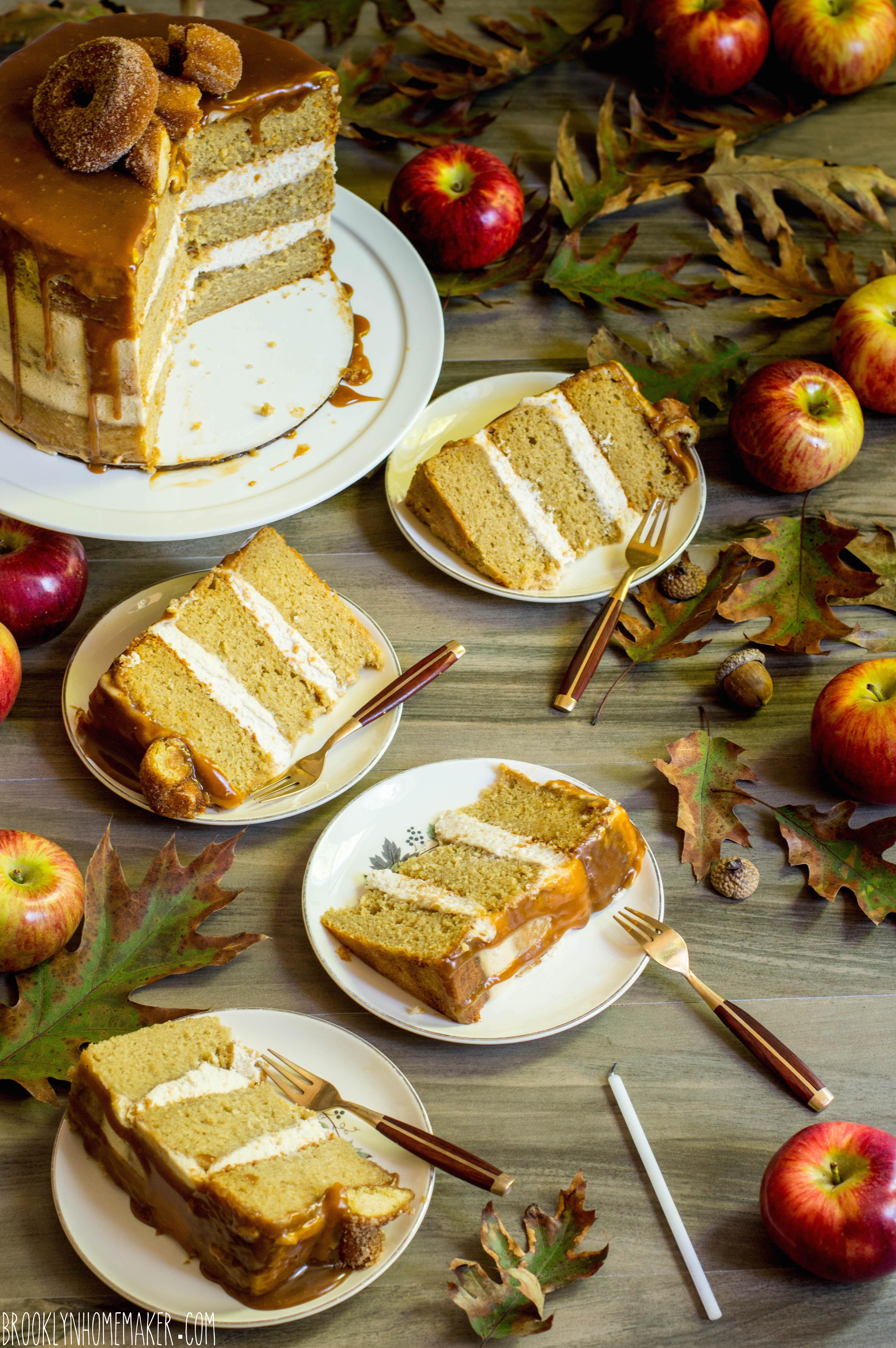 apple cider doughnut cake | Brooklyn Homemaker