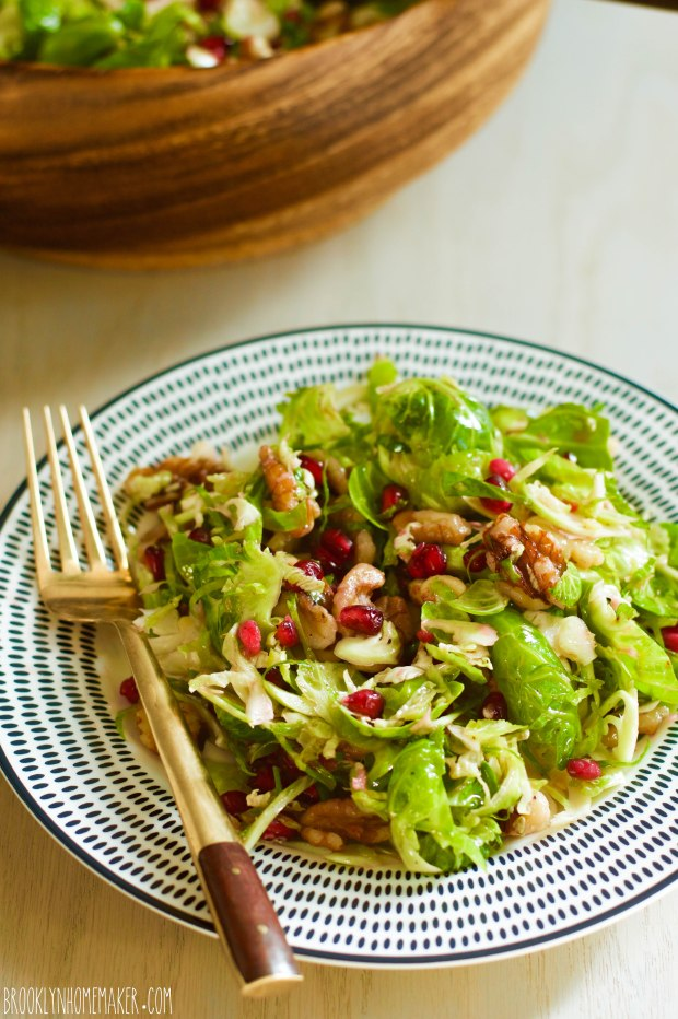 shaved brussels sprouts salad | Brooklyn Homemaker