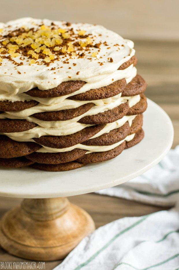 gingersnap icebox cake with maple mascarpone cream | Brooklyn Homemaker