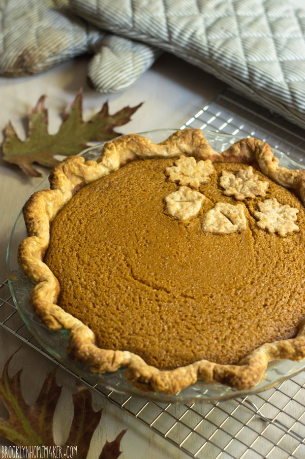 bourbon ginger pumpkin pie | Brooklyn Homemaker
