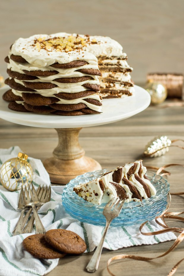 gingersnap icebox cake with maple mascarpone cream | Brooklyn Homemaker