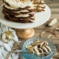 gingersnap icebox cake with maple mascarpone cream