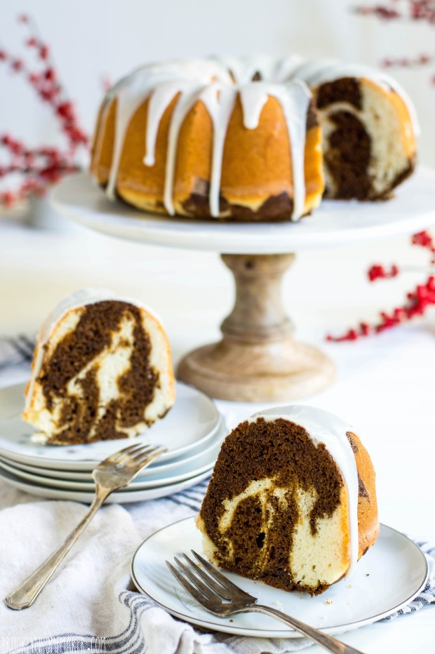 old fashioned marble cake | this heritage marble cake recipe is darkened with molasses and spice rather than chocolate | Brooklyn Homemaker