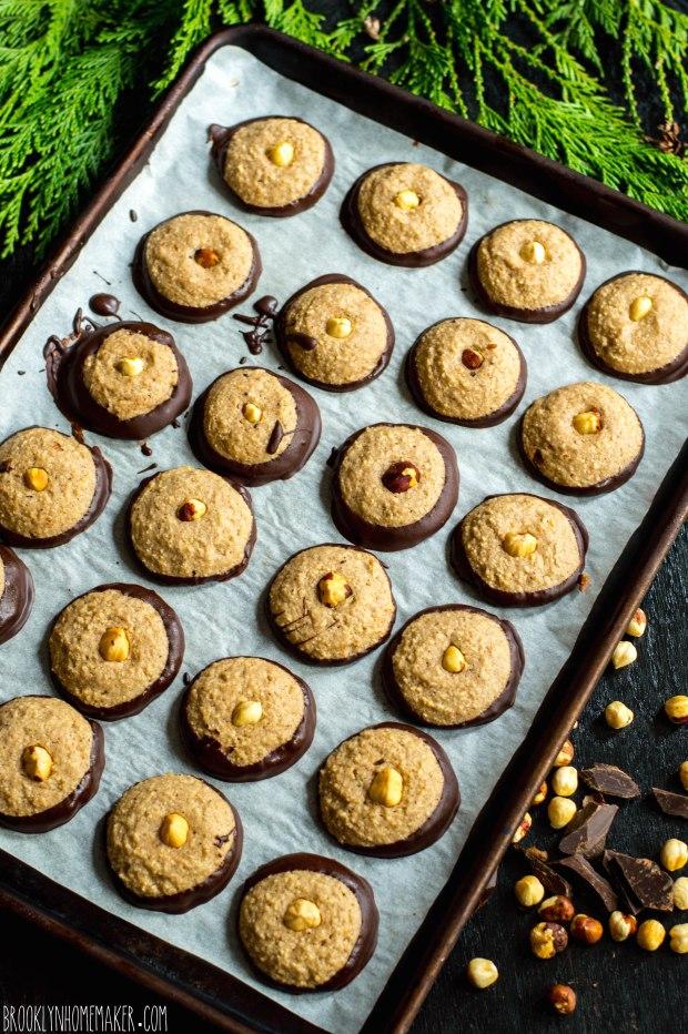 nusstaler | chocolate dipped hazelnut shortbread | Brooklyn Homemaker