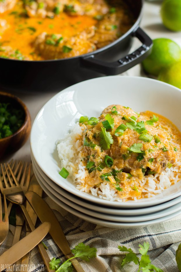 coconut lime braised chicken thighs | Brooklyn Homemaker
