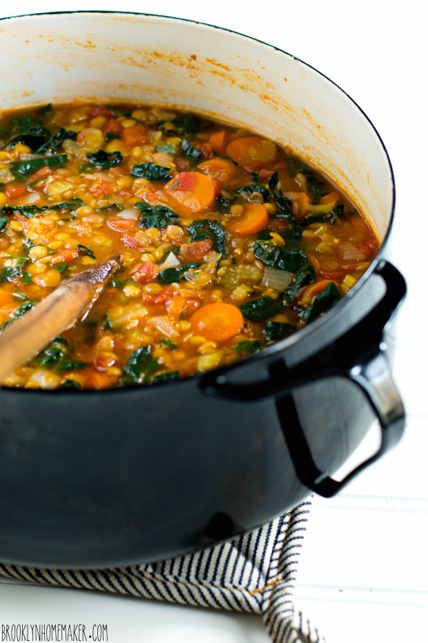 kale and lentil soup | Brooklyn Homemaker