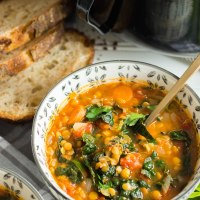 hearty kale and lentil soup
