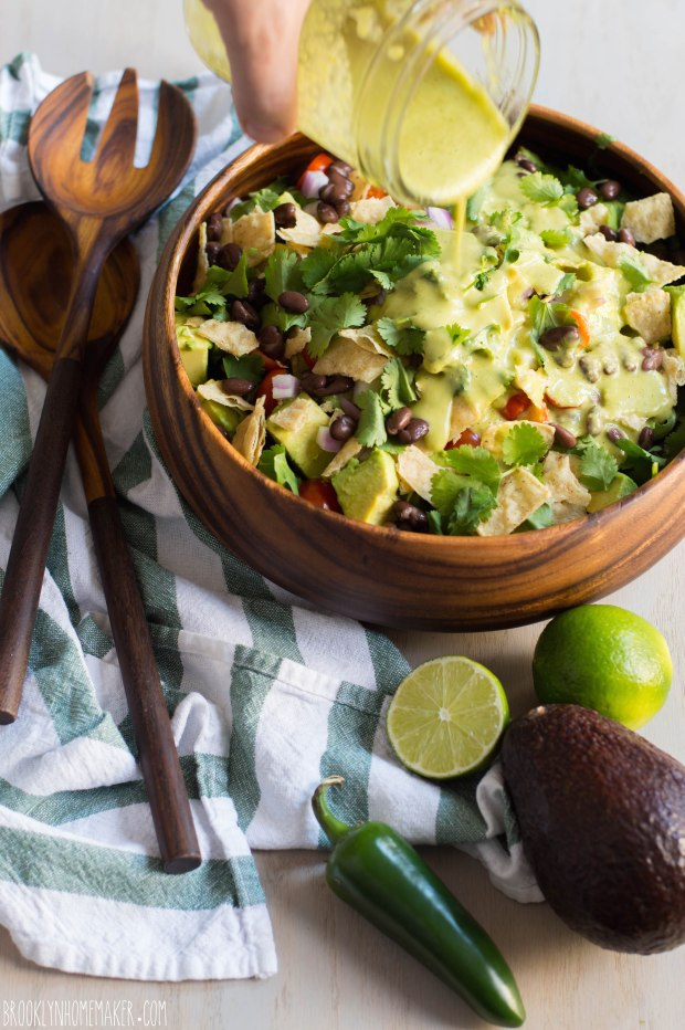 guacamole salad with jalapeno lime dressing | Brooklyn Homemaker