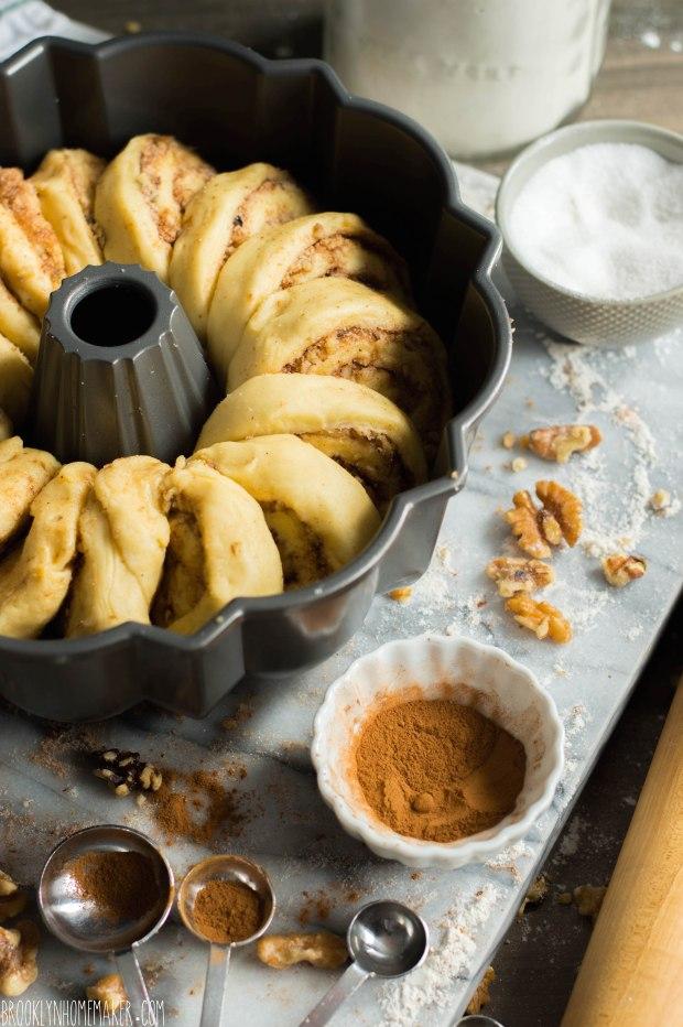 walnut schnecken bundt cake | German cinnamon roll cake | Brooklyn Homemaker