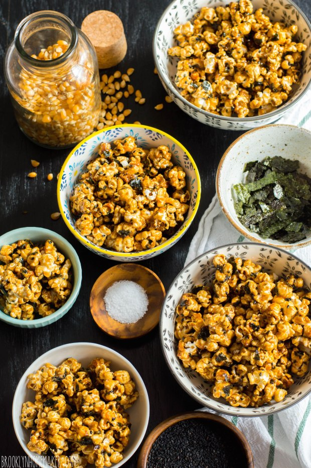 nori & black sesame caramel corn | Brooklyn Homemaker