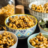 nori and black sesame caramel corn